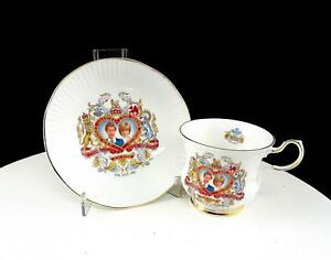 Rosina Queens China Charles And Diana Wedding 2 7 8 Cup And Saucer