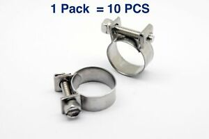 Stainless Mini Hose Clamp For Fuel Pipe Tube Plumping 8 10mm 0 31 0 39inch