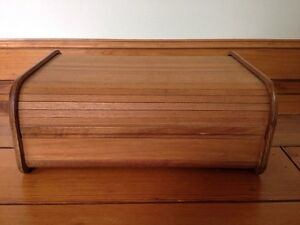 Vintage Mid Century Danish Modern Teak Thai Wood Roll Top Desk Organizer Storage