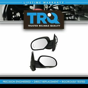 Mirror Power Folding Heated Signal Memory Blind Spot Puddle Textured Pair For Gm