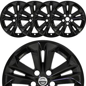 Fits Nissan Rogue Sv 2014 16 Black 17 Wheel Skins Hubcaps Full Alloy Rim Covers