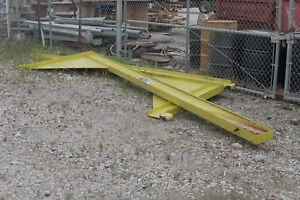 Wall mounted Jib Crane Yellow 1 2 Ton Needs Gone