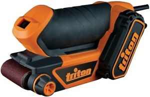 Triton Palm Sander 2.5 in. Belt 450-Watt Lock-On Switch Tracking Adjustment