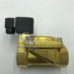 110v G1 1 2 Brass Electric Solenoid Valve For Water Waterproof Normally Closed