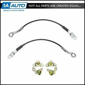 Tailgate Tail Gate Hinges Cable Kit 6 Piece Set For Chevy Gmc Truck New