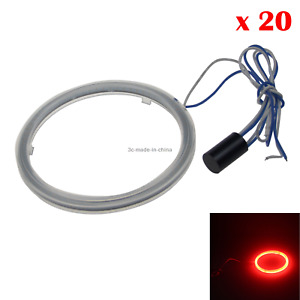 20x Red Car Angel Eye Halo Rings Blub Tail Lamp 60mm 1 Emitters Cob Led Z20707