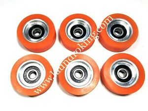 70298701p 6 Pieces high Quality Orange Roller Bearing For Huebsch sq ipso Dryer