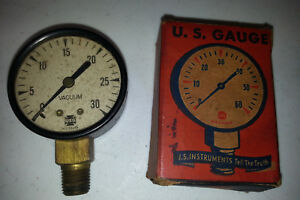 1940 s Vintage Vacuum Gauge 501 s Us Gauge Steampunk Industrial Antique Nos