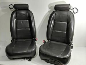 99 04 Ford Mustang Power Lh Driver Manual Rh Passenger Leather Seats Black