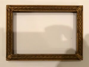 Antique 6x4 Small Miniature Newcomb Macklin Style Gold Picture Frame C