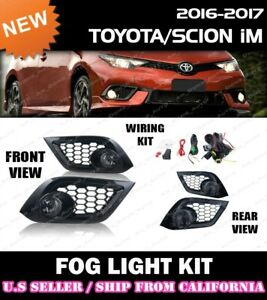 complete Fog Light Kit For Toyota 16 18 Im Corolla w Switch wiring covers