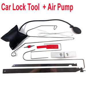 Car Door Key Lost Lock Out Emergency Open Unlock Tool Kit Inflatable Air Pump