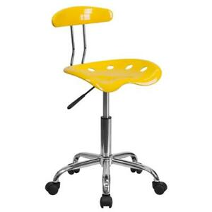 Home Office Desk Task Chair W Tractor Seat Swivel Height Adjustment Metal Frame
