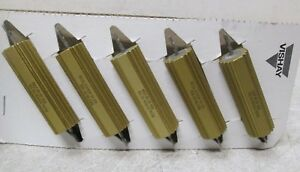 Lot Of 5 Vishay Dale Rh 50 Wirewound Chassis Mount Resistor 50w 4 Ohm 1 New
