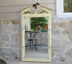 Tell City White Stenciled Mirror W Eagle Federal Ethan Allen Hitchcock Style