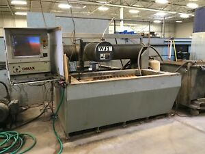 Used Omax 2652 Cnc Waterjet Water Jet Cutting System 26 X 52 25 H p