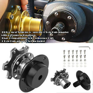 Aluminum Black Steering Wheel Detachable Quick Release Adapter Hub For Chevy