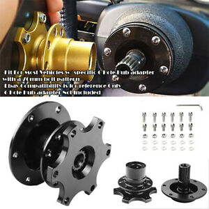 Black Steering Wheel Detachable Quick Release Adapter Hub For Honda Acura
