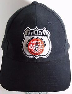 Vtg 1996 ATLANTA COCA COLA OLYMPICS OLYMPIC GAMES ADVERTISING SNAPBACK HAT GAME