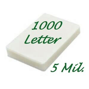 1000 Letter 5 Mil Laminating Pouches Laminator Sheets 9 X 11 1 2 Scotch Quality