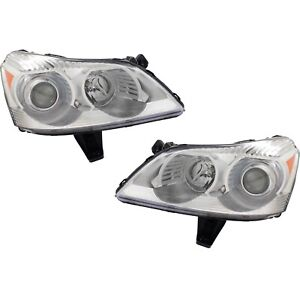 Headlight Set For 2009 2012 Chevrolet Traverse Left And Right With Bulb 2pc