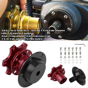 Red Steering Wheel Detachable Quick Release Adapter Hub For Honda Acura