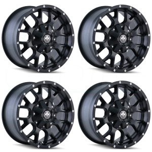 17x9 Mayhem Warrior 8x6 5 8x170 18 Matte Black Wheels Rims Set 4