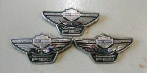 Harley Davidson Ford Supercharged F 150 100th Anniversary Badge Emblems Set Of 3