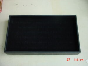 12 Black Ring Pad Display Organizers With Black Plastic Stackable Sample Trays