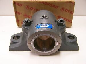Royersford 1 15 16 Split Journal Babbitted Pillow Block Bearing 60 02 0115 New