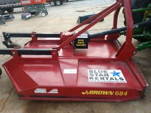 2017 Brown 684 Extra Heavy Duty Brush Cutter Bush Hog With 84 Cut Only 72 Hrs