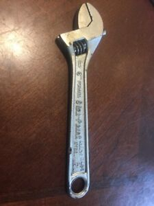 Vintage Blue Point Tools 6 Inch Crescent Adjustable Wrench Made In Kenosha Usa