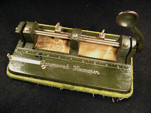 Vintage Wilson Jones Co Improved Hummer 3 Hole Punch Adjustable