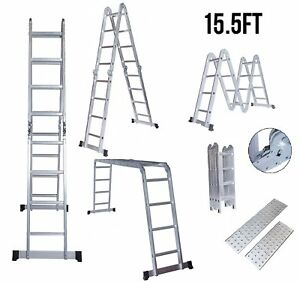 Idealchoiceproduct 15 5 Heavy Duty Gaint Aluminum Multi Purpose Folding Ladder
