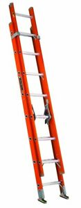 Louisville Ladder Fe3216 Fiberglass Extension Ladder 300 pound Capacity 16 feet