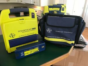 Cardiac Science Power Heart Aed W Battery Software And Carry Case