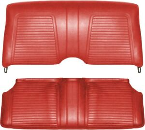 1969 Camaro Coupe Standard Interior Rear Seat Covers Red
