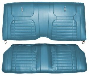 1968 Camaro Deluxe Interior Fold Down Rear Seat Covers Medium Blue