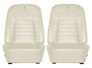 1968 Camaro Deluxe Interior Bucket Seat Covers Pearl Parchment