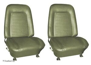 1969 Camaro Standard Interior Bucket Seats Assembled Dark Green