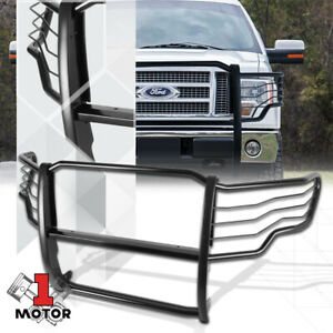 Black Mild Steel Front Bumper Grille brush headlight Guard For 09 14 Ford F 150