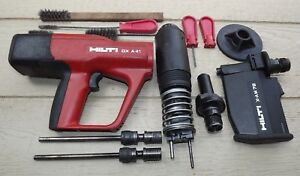 Hilti Dx A41 Nail Gun With X am72 Magazine Single Shot Guide X af 8l Case