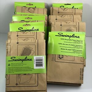 Recyclable Paper Shredder Bags stack and shred Lot Of 11 Pkg swingline 7 Gallon