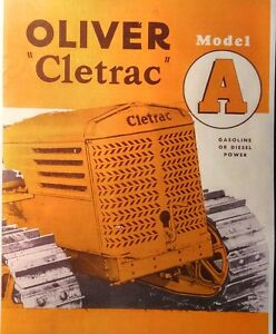 Oliver Cletrac Crawler Tractor Ag 6 Ad Adh Sales Brochure Full Color Manual 28pg