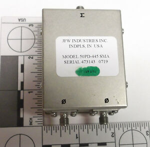 Jfw Industries 50pd 445 Sma 2 way Power Divider Combiner 400 3000 Mhz 3ghz Rf