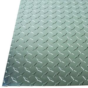 Aluminum Sheet 36 X 36 X 0 025 Tread Plate Finish Diamond Tread Silver