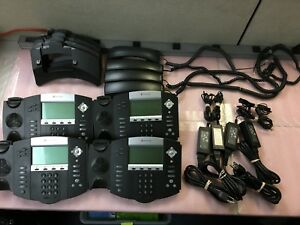 Lot Of 4 Polycom Ip550 Business Phone Ph466ds