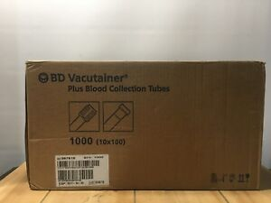 Case Of 1000 Genuine Bd Vacutainer Plus Blood Collection Tubes 367815