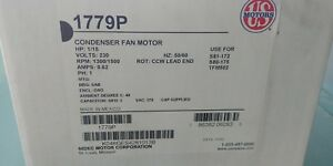 New Us Motors 1779p 5 Psc Refrigeration Condenser Fan Motor 230v 1 15hp 1500rpm