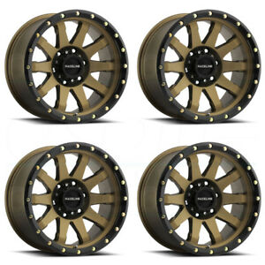 17x9 Raceline 934bz Clutch 8x6 5 8x165 1 12 Bronze Wheels Rims Set 4